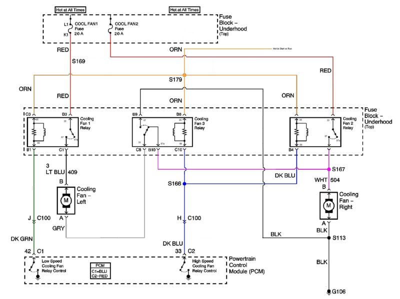 ls1_coolingfans_rodder switched to a ls1 efan question on wiring in a c compressor s 97 Plymouth Voyager Radiator Fan Wiring Diagram at gsmx.co